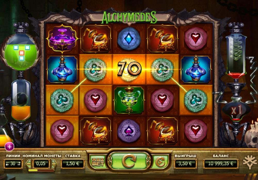Общая информация об игровом автомате Alchymedes